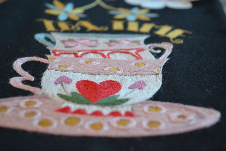 Embroidery, wool
