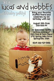 "Scholz Souls: How To Throw A NO COST ""Calvin and Hobbes"" Birthday Party {Tutorial}"