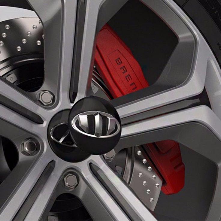BRENTHON Wheel Caps New Emblem x 4 for KIA & HYUNDAI Vehicle #BRENTHON