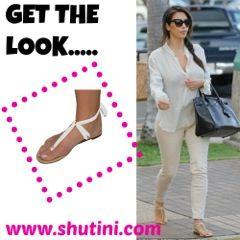 KK in flats! #shutini #whitestrap #shoponline #shutinistyle #resortwear