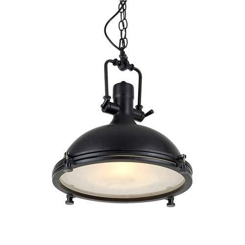LNC Dome Pendant Lighting, 1 Light Hanging Light With Black Finish