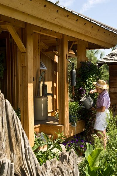 quietude cabin porch and garden 5 Quietude: $29,000 Small Prefab Cabin that  brings you Peace