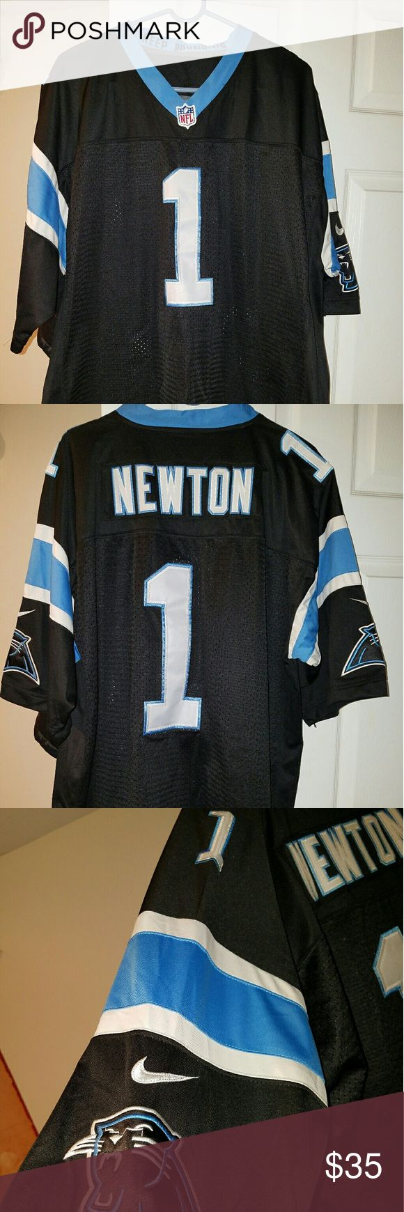 Nike NFL Panthers Jersey Cam Newton Nike NFL jersey. Only worn once during Superbowl game. Size 56, which I believe is a XXL Nike Shirts
