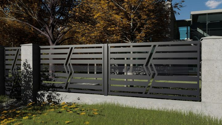 Ogrodzenie Panelowe Plot Brama Palisada Gobe 369 8832799588 Allegro Pl House Gate Design Gate Design Outdoor Decor