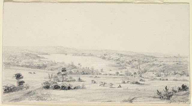 Sydney 1830 [view of Woolloomooloo Bay and Garden Island]