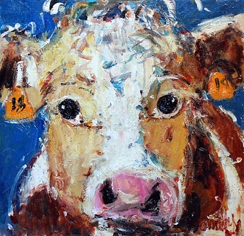 "Deborah Donnelly ""Bull"" #art #painting #farmlife #farmanimal #cute #friendly #DukeStreetGallery"