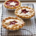 easy cherry pie, using raspberries