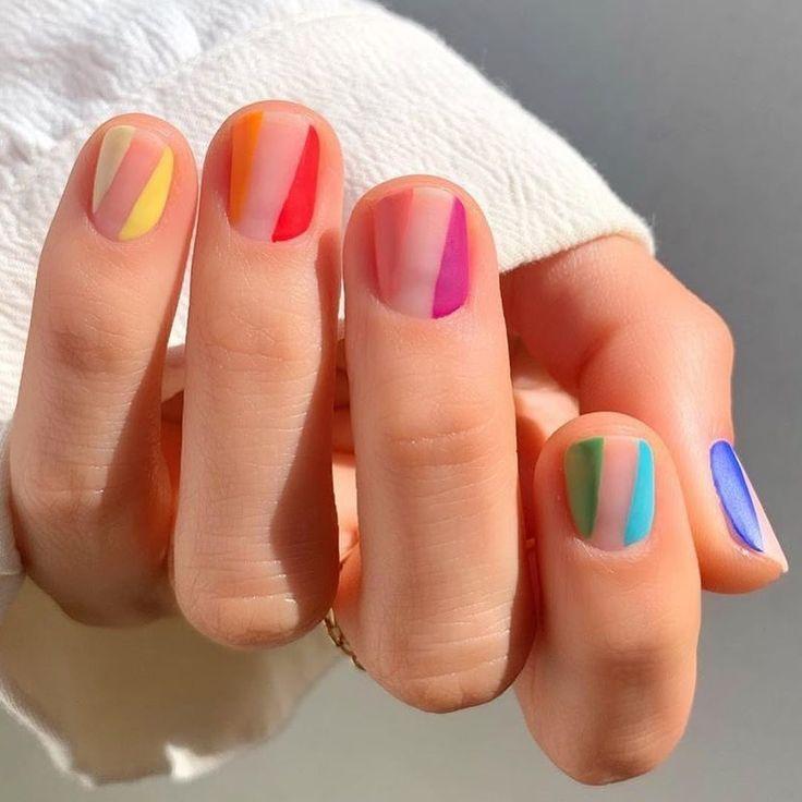 19 Fire Nail Art Designs für alle mit kurzen Nägeln – check out those nails