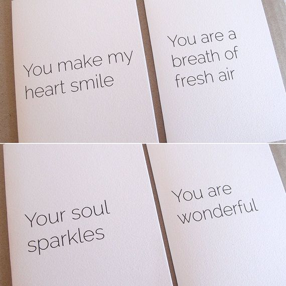 Note Card Pack  Four high quality beautiful by LittleWhiteMouse.etsy.com #card #gift #thankyou #friend #uplift #positive #etsy
