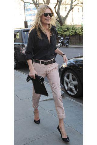 Kate Moss. Look casual en Glamour España.
