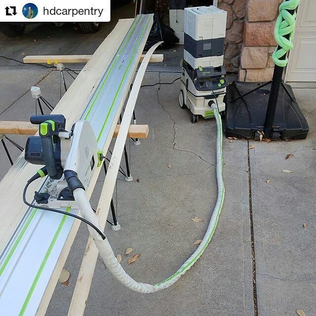 The #CentipedeSupport once again proves to be a handy #tracksaw #stand in this repost via @hdcarpentry:  Shaping these rough cut 8/4 with the Festool TS 75. The 55 could cut it but I wouldn't recommend it. The 75 is far more suited to handle this thickness of wood. The ability to make a factory straight cut in the field is unmatched by Festool's track saws. #festool #festooled #festoolfan #festoolsaw #festool_brasil #festool_usa #festoolts75 #carpenterslife #toolsofthetrade #tools #carpentry…