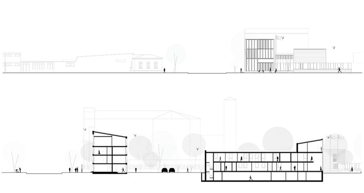 OPERASTUDIO - Project - CityLIfe Police Station - Elevations and #sections #Milan #Public spaces #fiera