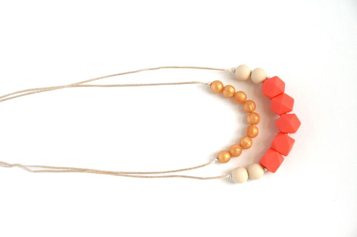The Olivia - double strand beautiful teething necklace