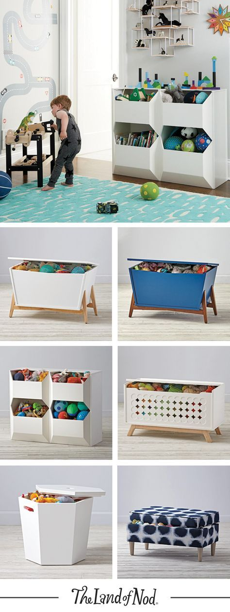 What type of kids furniture clears up any mess? The answer is a toy box! It's the perfect storage option for holding toys and all their essentials. The Land of Nod's lineup of colorful toy boxes will feel right at home in a kids bedroom or even a playroom. Plus, an upholstered bench is always a stylish option. They blend the line between fashion and function, and can be used in any shared space.
