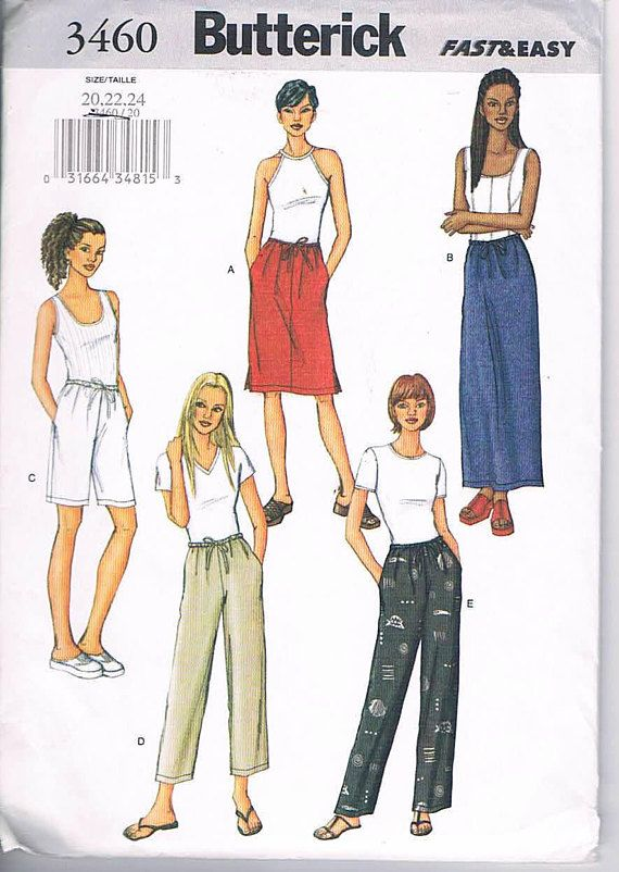 Hey, I found this really awesome Etsy listing at https://www.etsy.com/ca/listing/574225880/butterick-3460-fast-and-easy