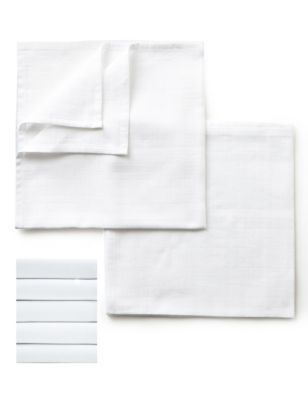 M&S 5 Pack White Muslin Squares