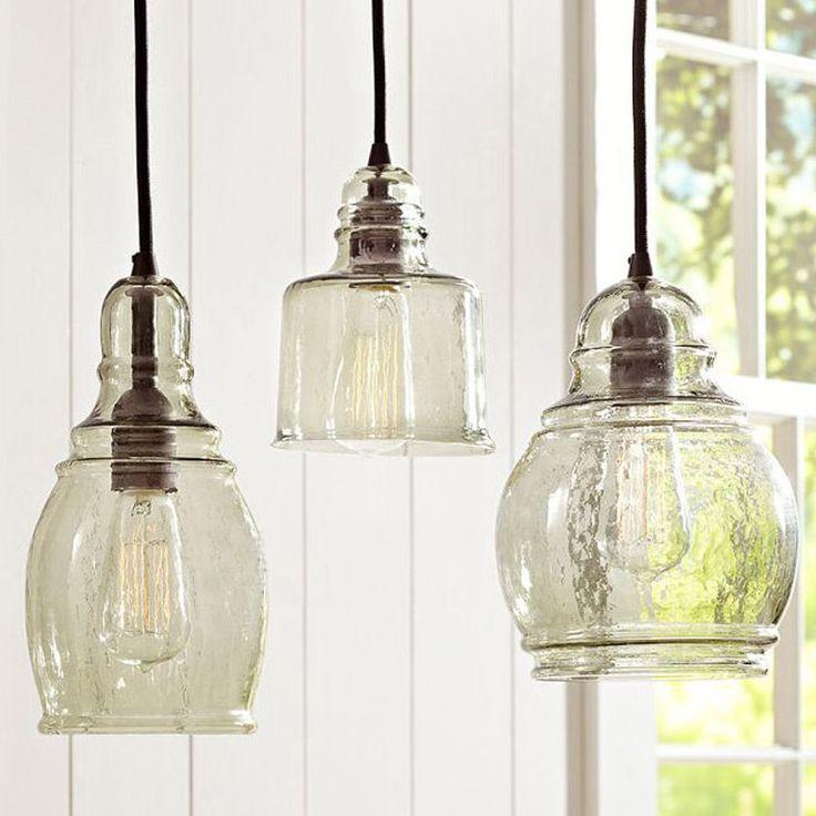 3 simple style chandelier ceiling fixture lamp light glass pendant lighting