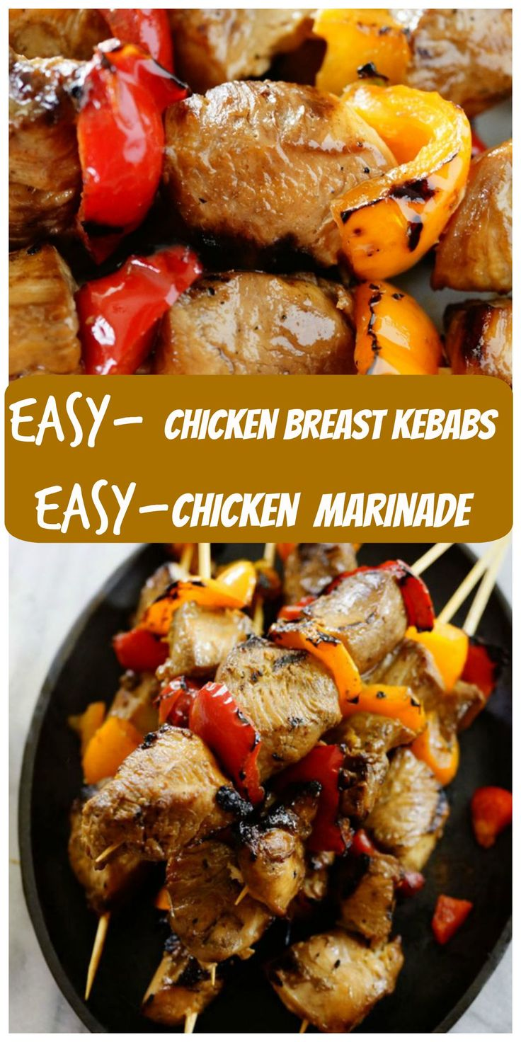 Barbecue Chicken Breast Kebabs and Homemade Chicken Marinade