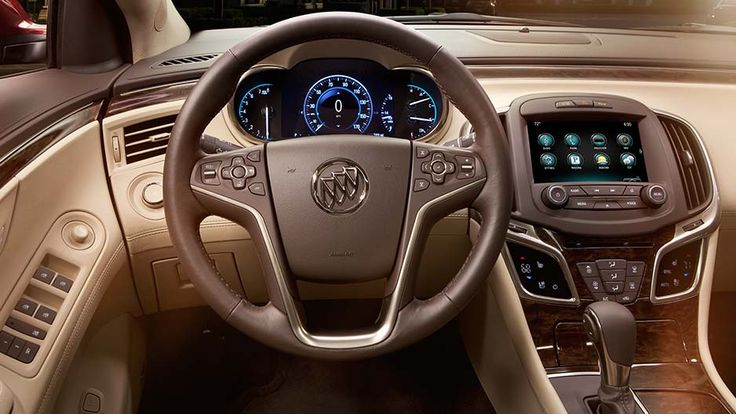 The 2016 Buick LaCrosse full-size sedan offers a heated leather-wrapped steering wheel for your comfort.
