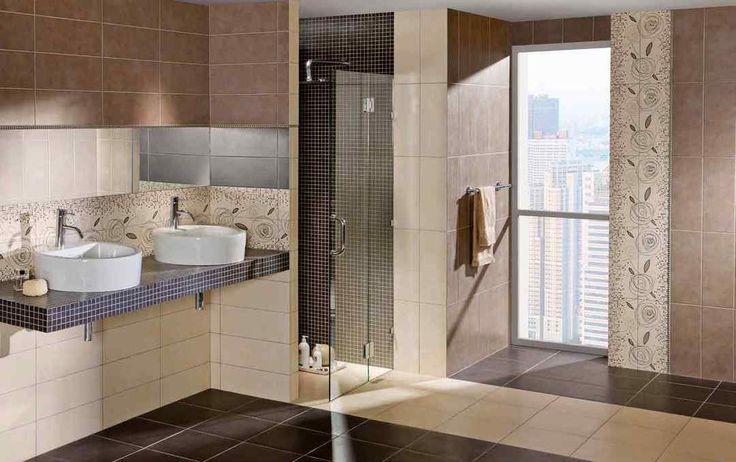 Большая ванная комната с двумя современными накладными раковинами круглой формы. А также выделенная душевая зона со стеклянной дверью. #подвесная_мебель_в_ванну_комнату #мебель_для_ванной #накладная_раковина #душевая_кабина
