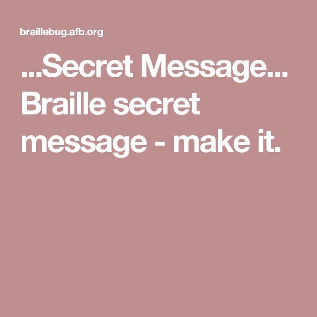 write a braille message