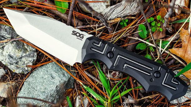 "SOG Growl, designed by knife maker Jason Brous. Total Length: 8.1"" Blade Length: 3.6"" Weight: 5.40oz. Blade Thickness: .25"" Steel Type: 9CR18MOV"