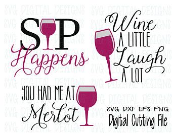 Wine Svg Bundle, Wine Glass Svg, Wine Quote Svg, Wine Sayings Cut file for Silhouette Cricut Scal Svg Dxf Eps Png Kitchen SVG Digital Design
