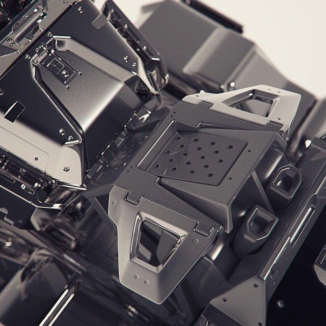 Abstract hard surface #3d #3DSmax #concept #design #industrial #render #keyshot…