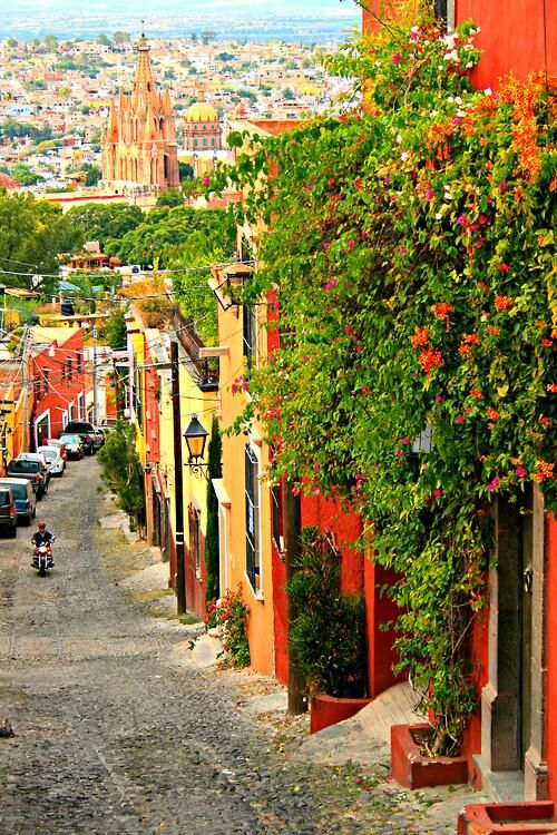 San Miguel de Allende, Mexico,,,,one of my favorite spots in Mexico. :)  (this town was just voted number 1 in travel destinations-2013. I've been there and will definitely go again)
