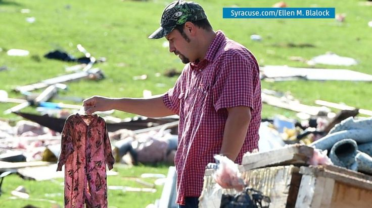 When a tornado struck the town of Smithfield, New York, Bobby Newman lost his fiance' and four month old daughter.