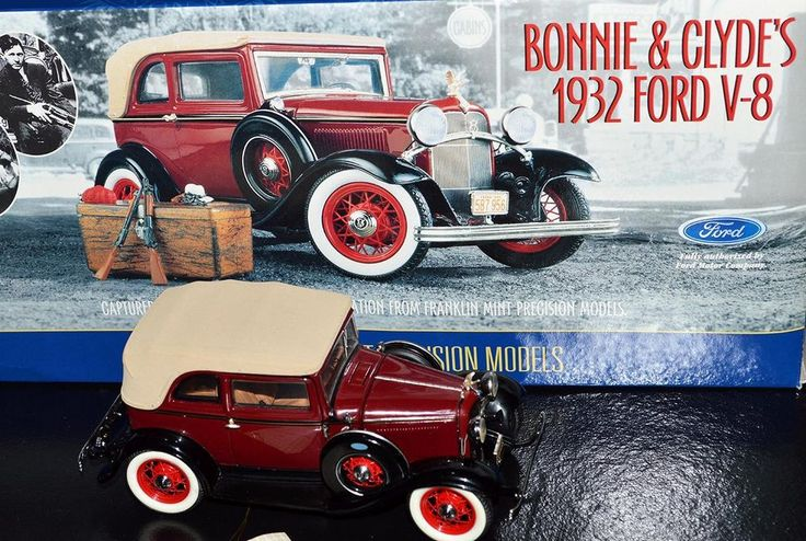Franklin Mint 1932 Ford Convertible Sedan Bonnie Amp Clyde