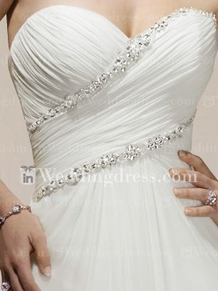 Chiffon Strapless Sweetheart A-line Corset Wedding Dress BC175 New