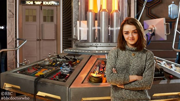 When she let fandoms collide by signing up to Doctor Who. (OMG) | 18 Times Maisie Williams Ruled The World