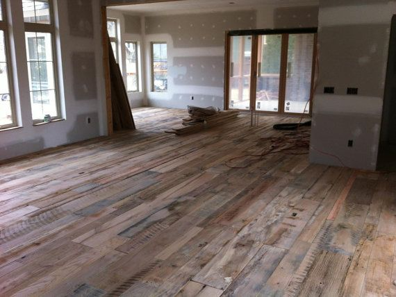 Reclaimed barnwood flooring rustic flooring house for Rustic flooring ideas