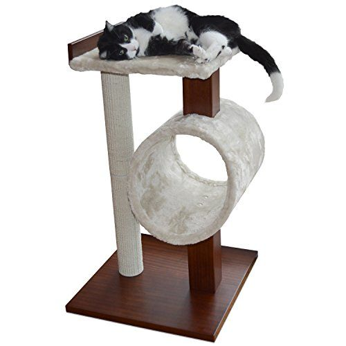 [NEW] PetFusion Modern Cat Activity Tree & Scratching Post. (Furniture Grade…