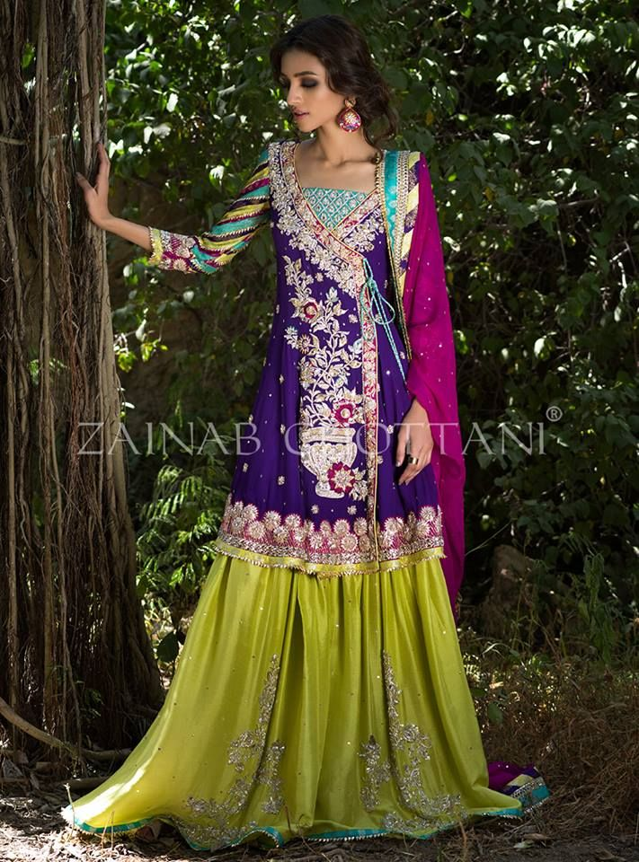 Zainab Chottani Pakistani Mehndi Dresses Designs Collection Online