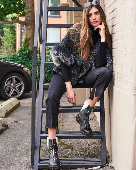 Milli Muse. Luisa Cerano jacket and An Hour and a Shower boots, available at Milli. #luisacerano #anhourandashower #milli