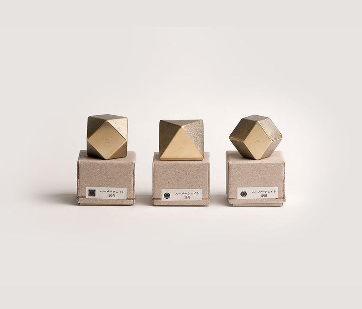 Oji Masanori Brass Square Paperweight