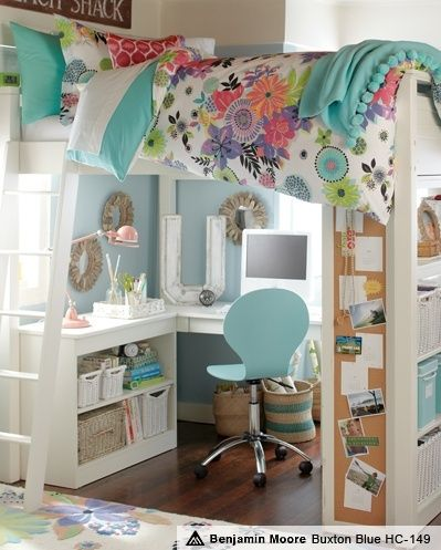 How to: Create a Homework Area for Kids....great idea!!! I think the bed needs some sort of side on it though. That is a long way down if they fall out of bed!