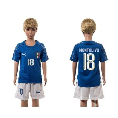 Italien Trøje Børn 2016 #Montolivo 18 Hjemmebanetrøje Kort ærmer.199,62KR.shirtshopservice@gmail.com