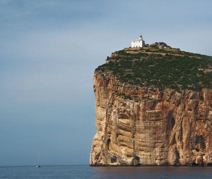Capocaccia Lighthouse, Tramariglio, Sardinia, Italy
