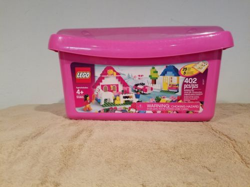 LEGO 5560 BARELY USED Classic Large Pink Brick Box Building Set 402 pcs Complete