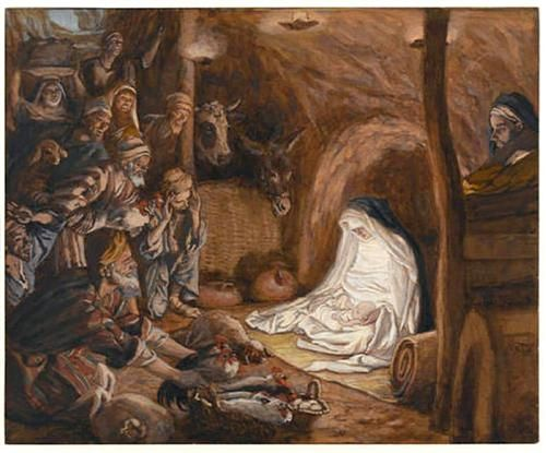 The Adoration of the Shepherds, illustration for 'The Life of Christ' - James Tissot