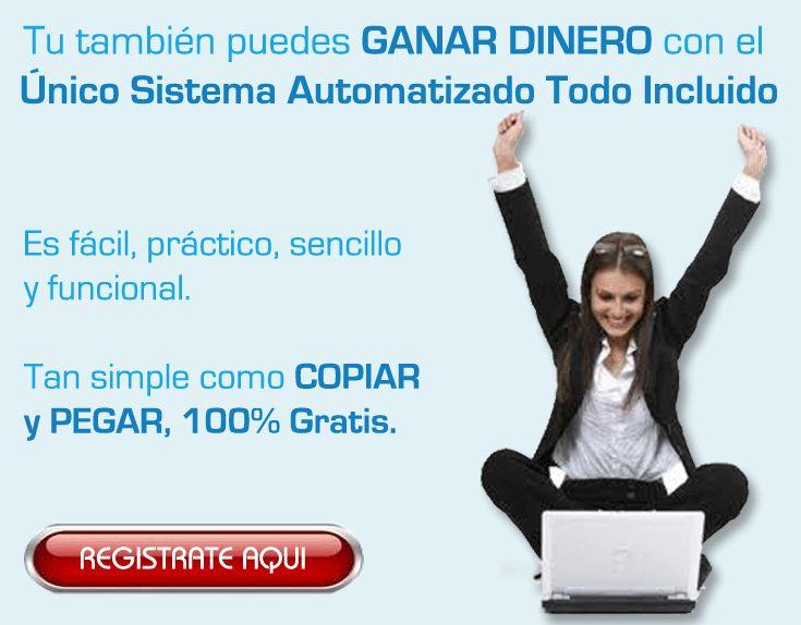 No pierdas más tiempo y comienza a ganar dinero ahora con el sistema que está revolucionando Internet... Regístrate gratis desde el siguiente enlace: http://gananciaz.com/ganardinero/vazmont