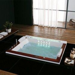 Belle baignoire balneo rectangulaire encastrable Haraiki