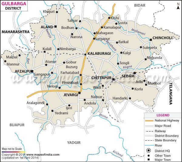 District Map of Gulbarga