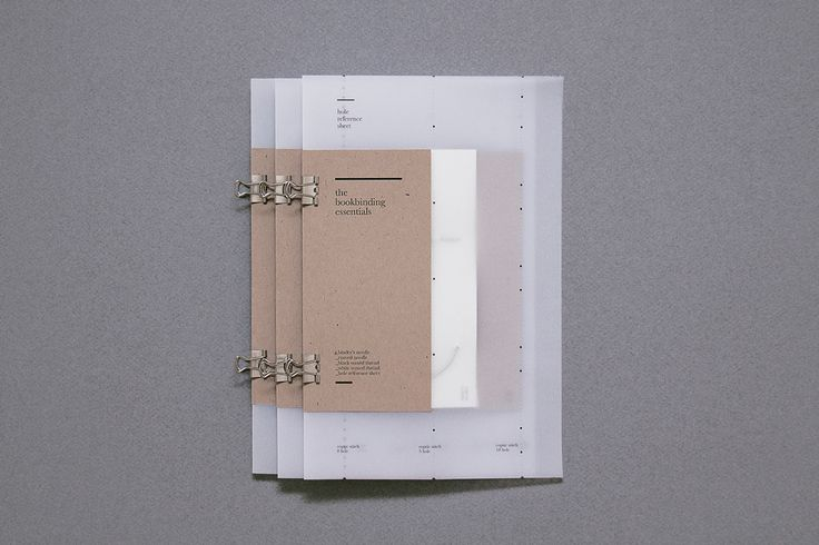 "Jiani Lu    |    http://lujiani.com ""The Bookbinding Essentials is a series of handmade booklets prepared for a coptic binding workshop with -ING, a Dubai creative community. Each booklet features a velum hole-pattern reference sheet, two binder's needles, waxed thread and clamp clips."" Jiani is a 23 year old designer, photographer, bookbinder, tea enthusiast and night owl. Originally from Toronto, currently based in Dubai, Jiani has a serious passion for design and is always eager to ..."