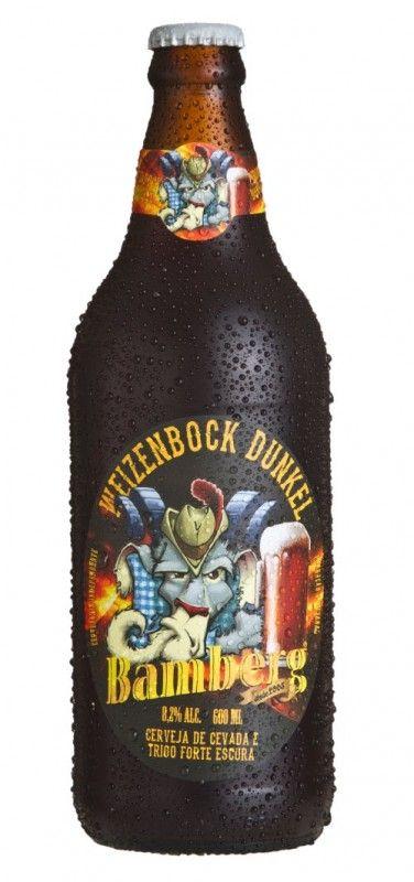 Cerveja Bamberg Weizenbock Dunkel, estilo German Weizenbock, produzida por Cervejaria Bamberg, Brasil. 8.2% ABV de álcool.