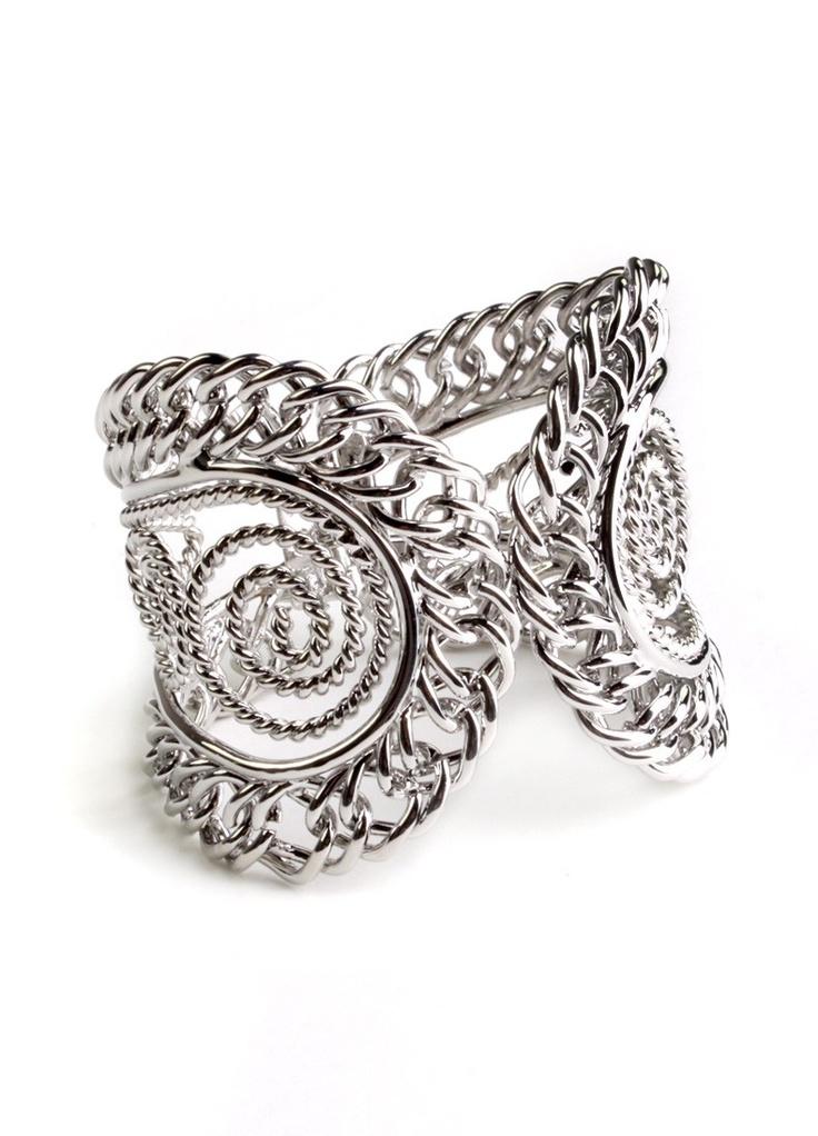 Silver Spiral Cuff $9.80