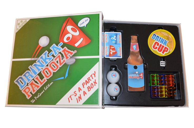 "DRINK-A-PALOOZA: The ""Monopoly"" of Drinking Games, Board Games, Party Games & Bachelorette Party Gifts featuring Kings Drinking Games, Beer Pong & Flip Cup"